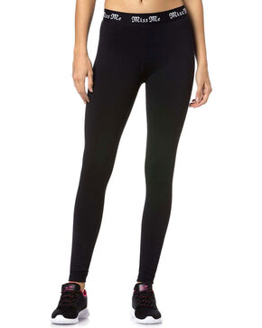 Miss Me Women's Elite Active Leggings, Black, hi-res