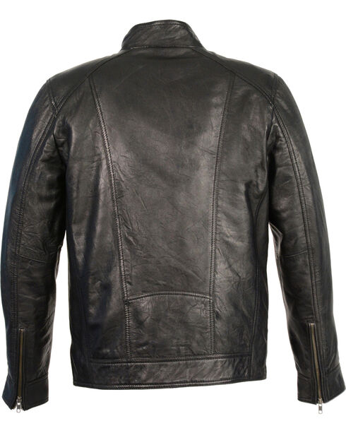 Milwaukee Leather Men's Sheepskin Moto Leather Jacket, Black, hi-res