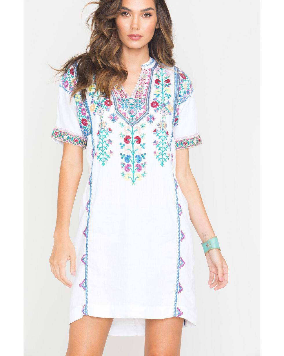 Johnny Was Women's White Clover Easy Tunic Dress , White, hi-res