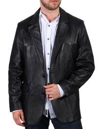 Cody James Men's Lambskin Leather Blazer , , hi-res