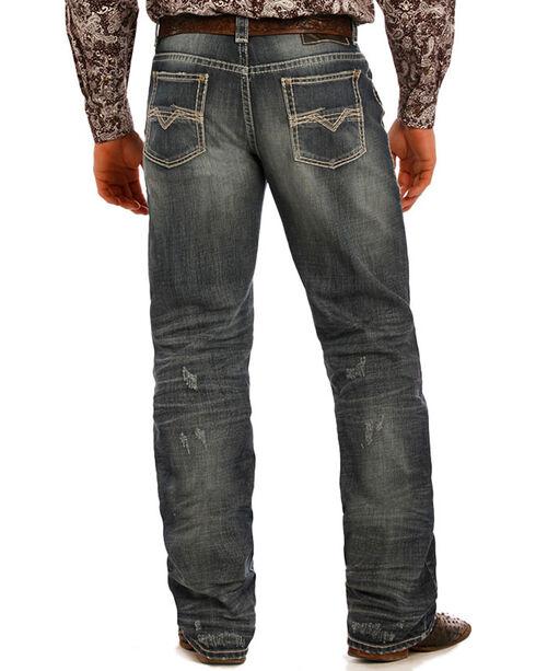 Rock & Roll Cowboy Men's Performance Straight Leg Jeans, Dark Blue, hi-res
