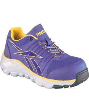 Reebok Women's Arion Athletic Oxford Shoes - Composition Toe, Purple, hi-res