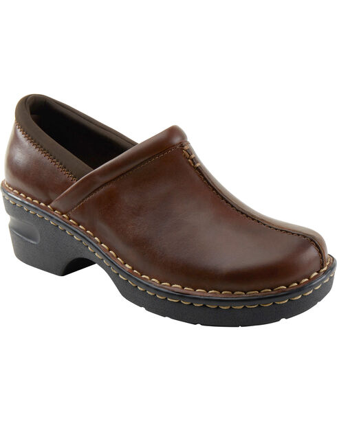 Eastland Women's Brown Kelsey Slip On Clogs , Brown, hi-res
