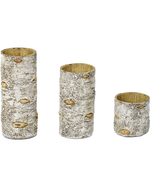 HiEnd Accents Birch Candle Holders - Set of 3, Natural, hi-res