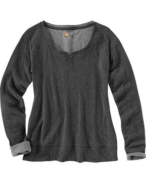 Carhartt Women's Black Ponderosa Scoop Neck Shirt, Black, hi-res