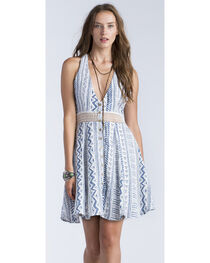 Miss Me Women's White Geo Print Racerback Dress, , hi-res