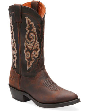 """Double-H Men's Work Western 12"""" Work Boots, Distressed Brown, hi-res"""
