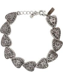 Shyanne® Women's Vintage Heart Tennis Bracelet, , hi-res