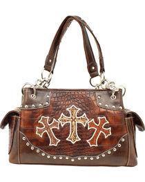 Blazin' Roxx Women's Faux Gator Skin Cross Handbag, , hi-res