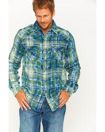 Ryan Michael Men's Sequoia Double Face Plaid Western Shirt , , hi-res