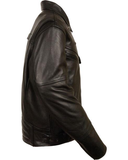 Milwaukee Leather Men's Side Set Belt Utility Pocket Motorcycle Jacket - 3X, Black, hi-res