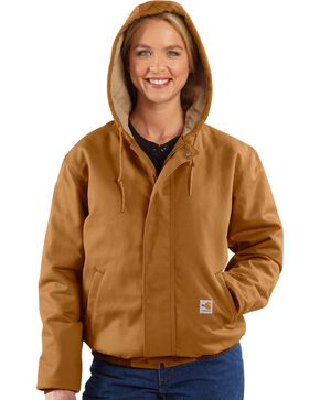 Carhartt Women's Flame-Resistant Canvas Work Jackets, Carhartt Brown, hi-res