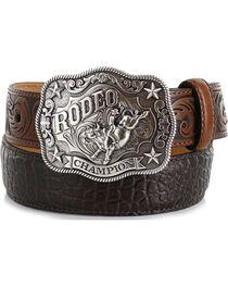 Cody James® Kid's Gator Print Belt, , hi-res