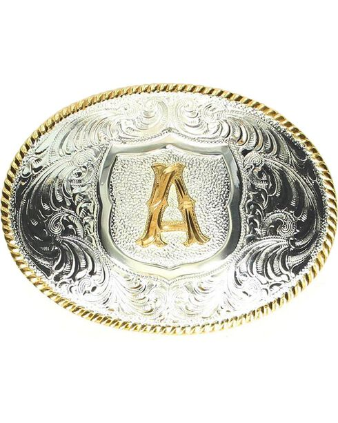 """Crumrine Initial """"A"""" Buckle, Silver, hi-res"""