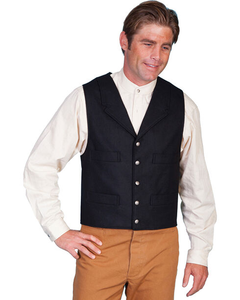 Scully Men's Wool Blend Vest, Black, hi-res