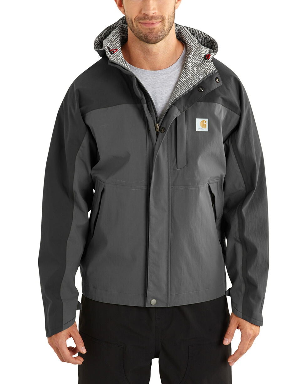 Carhartt Waterproof Breathable Shoreline Jacket, Grey, hi-res