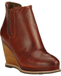 Ariat Women's Cedar Brown Belle Wedge Boots - Round Toe , Cedar, hi-res