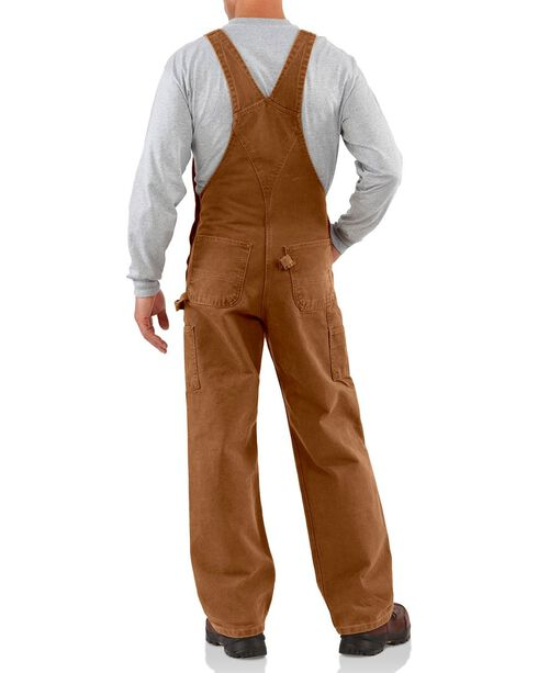 Carhartt Men's Sandstone Bib Overalls, Carhartt Brown, hi-res