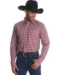 Wrangler Men's Wrinkle Resist Plaid Long Sleeve Shirt, , hi-res