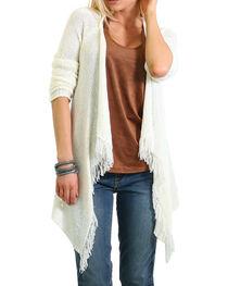 Shyanne Women's Fringe Hem Knit Sweater, , hi-res