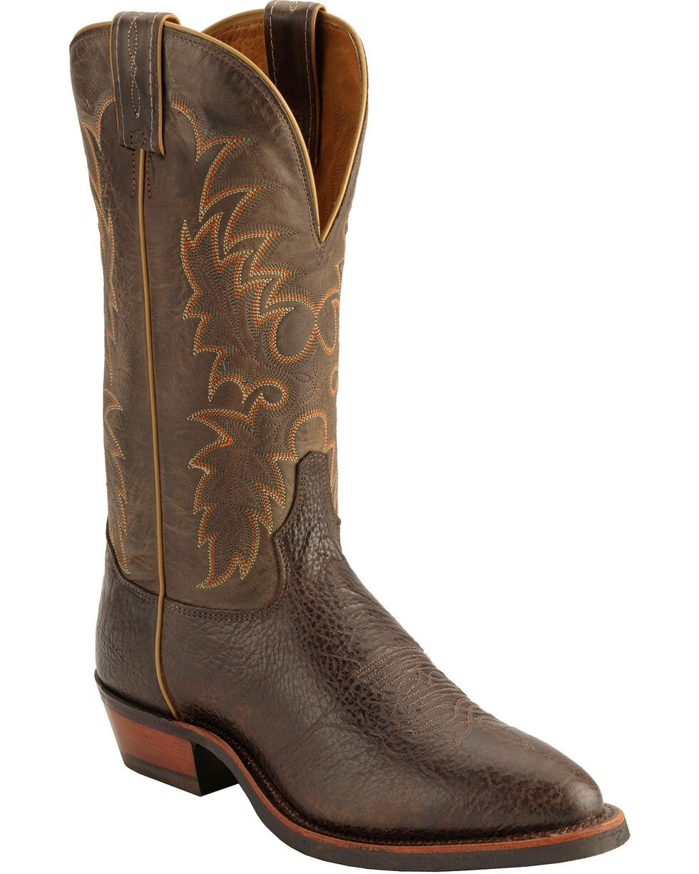 Tony Lama Americana Conquistador Shoulder Cowboy Boots - Medium Toe, Java, hi-res