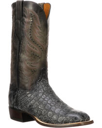 Lucchese Men's Troy Black Giant Gator Western Boots - Square Toe, , hi-res