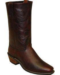 "Abilene Men's 12"" Flat Top Cowhide Western Boots - Square Toe, , hi-res"