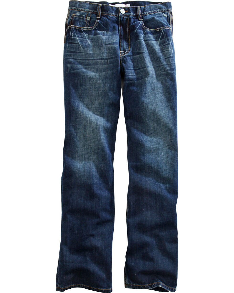 Tin Haul Men's Regular Joe Straight Leg Deco Stitch Jeans, Denim, hi-res