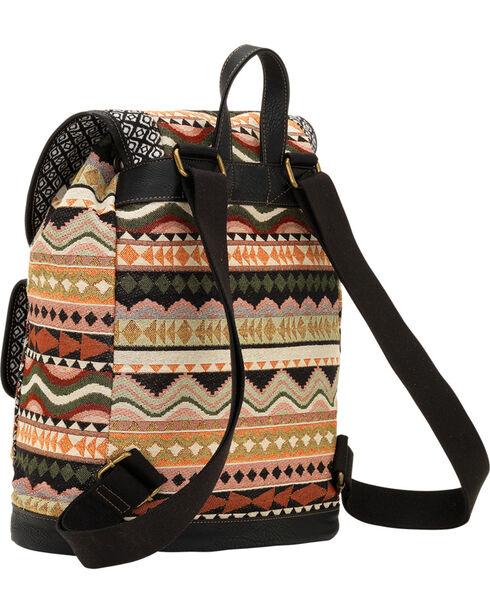 Bandana by American West Tan and Black Santa Fe Drawstring Backpack, Black, hi-res