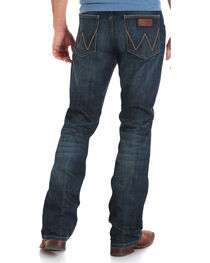 Wrangler Men's Indigo Retro Relaxed Fit Jeans - Boot Cut - Long , , hi-res