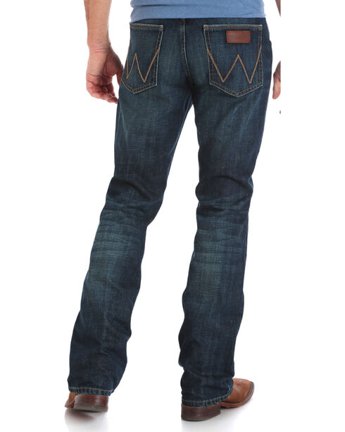 Wrangler Men's Indigo Retro Relaxed Fit Jeans - Boot Cut - Long , Indigo, hi-res