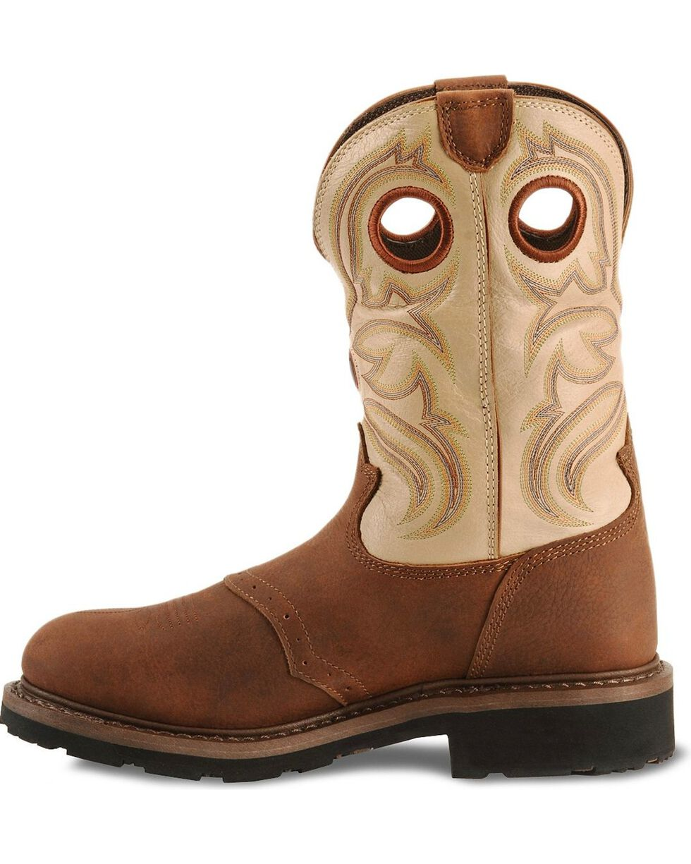 Tony Lama Men's 3R Waterproof Steel Toe Western Work Boots, Sienna, hi-res