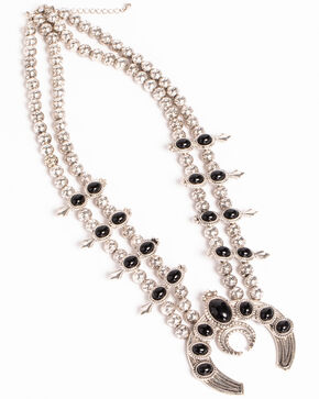 Shyanne® Women's Squash Blossom Necklace, Silver, hi-res