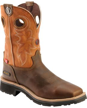Tony Lama 3R Comanche Work Boots - Composition Toe, Brown, hi-res