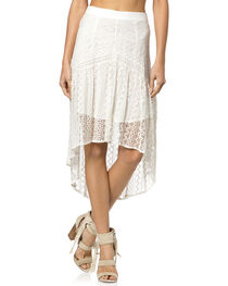 Miss Me Hi-Lo Lace Skirt, , hi-res
