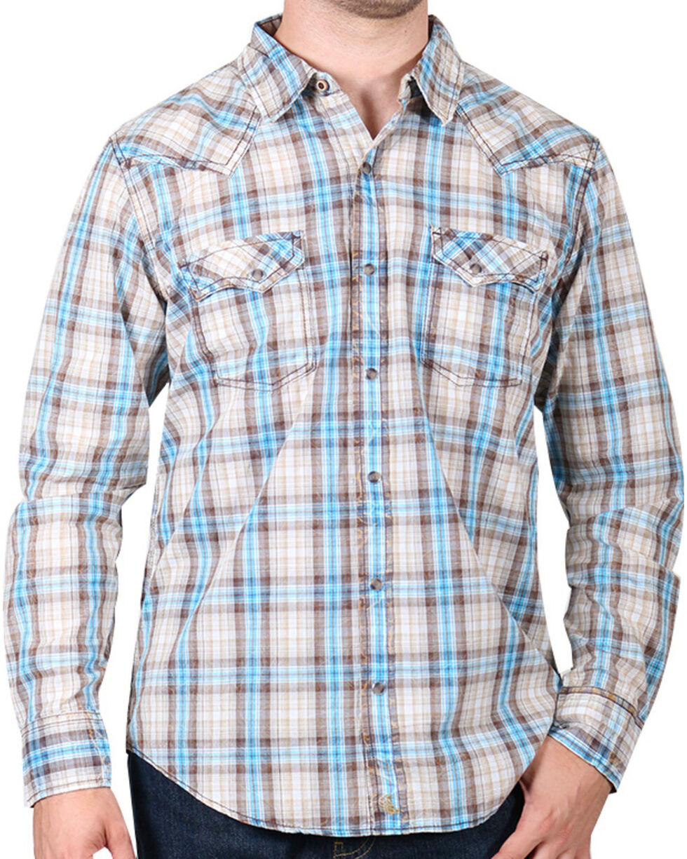Cody James® Men's Vintage Plaid Long Sleeve Shirt, , hi-res