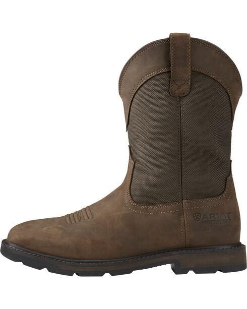 Ariat Men's Groundbreaker H2O Steel Toe Work Boots, Brn Bomber, hi-res