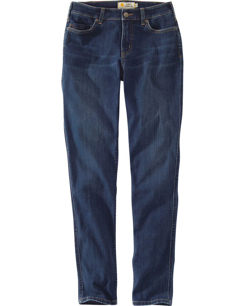 Cowboy Cut and natural comfort. The contoured waist sits at your natural waistline. These jeans also offer authentic five pocket styling, rivet trim, the iconic Wrangler Western patch, and a tapered leg for a flattering, long legged look.