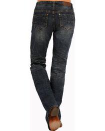 Rock & Roll Cowgirl Women's Dark Wash Boyfriend Jeans- Boot Cut , , hi-res