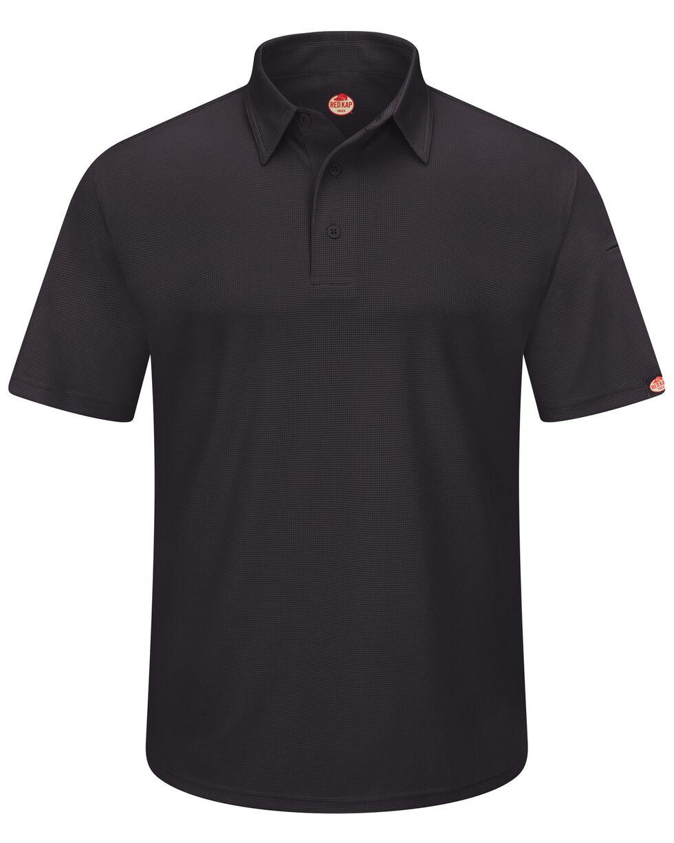 Red Kap Men's Performance Knit Flex Series Polo Shirt , Black, hi-res