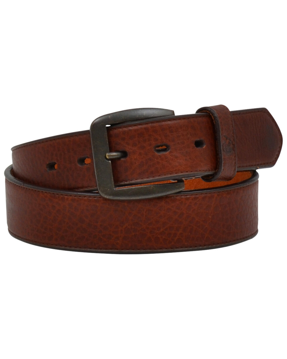 Georgia Men's Dark Brown Pebble Leather Work Belt, Dark Brown, hi-res