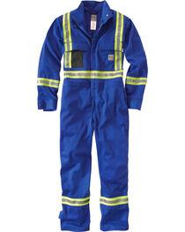 Carhartt Men's Flame Resistant High-Viz Coveralls - Short Sizes, , hi-res
