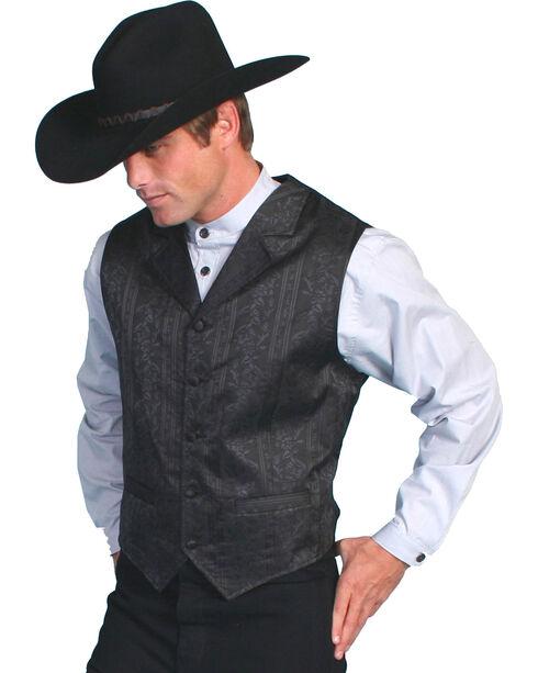 Scully Men's Floral Stripe Vest, Black, hi-res