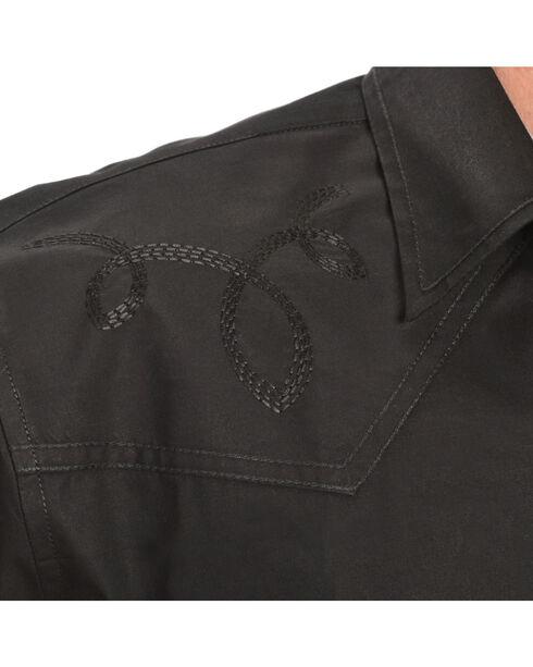 Red Ranch Short Sleeve Black Embroidered Western Shirt, Black, hi-res