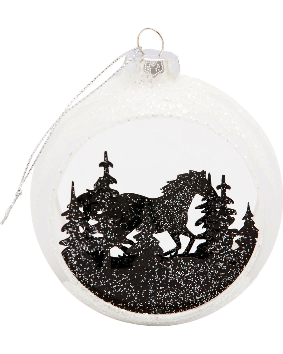 BB Ranch Glitter Picturesque Horse Ornament, No Color, hi-res