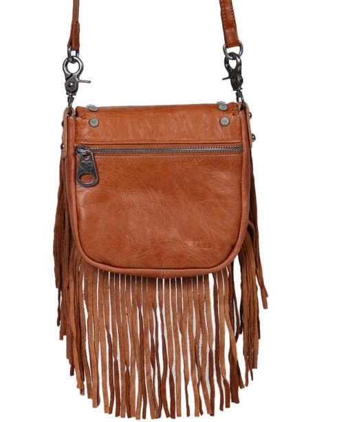 Shyanne® Women's Fringe Crossbody Bag, Brown, hi-res