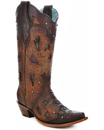 Corral Women's Studded Embossed Western Boots, , hi-res