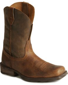 Ariat Mens Rambler 11 Western Boots, Earth, hi-res