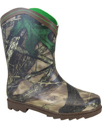 Smoky Mountain Youth Boys' Muddy River Waterproof Boots, Brown, hi-res