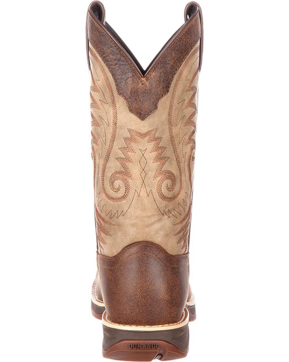 Durango Men's Ultra Lite Waterproof Western Work Boots, Brown, hi-res